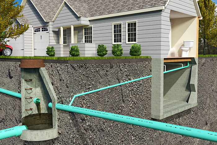 septic system diagram example of what we inspect while preforming home inspection services